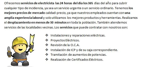 Equipo de Electricistas Huarte realiza boletines eléctricos